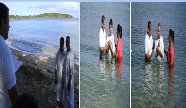 Tercer bautismo de La Iglesia Cristiana  Casa de Júbilo y Consagración
