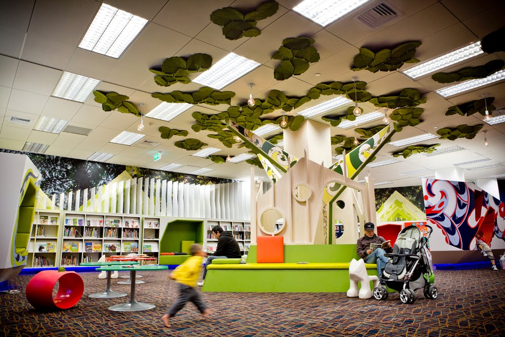 The Central City Library children's area.