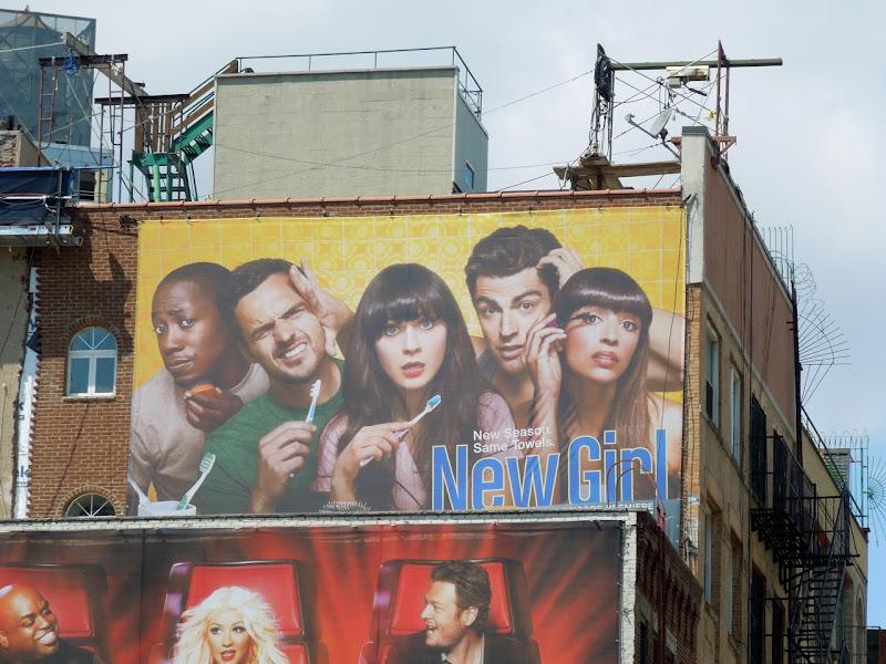 New Girl season 2 billboard NYC