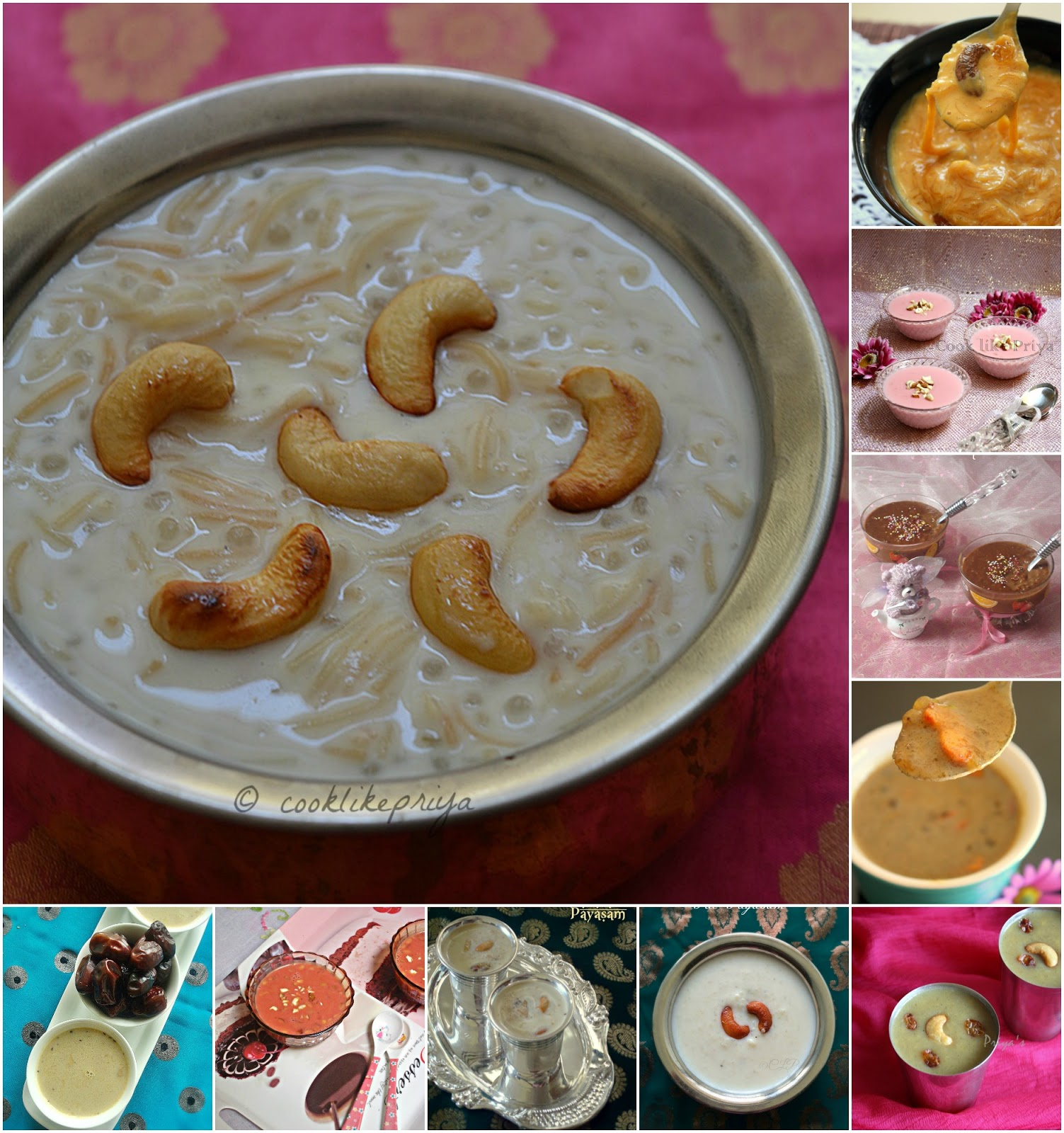 Payasam/ Kheer Recipes