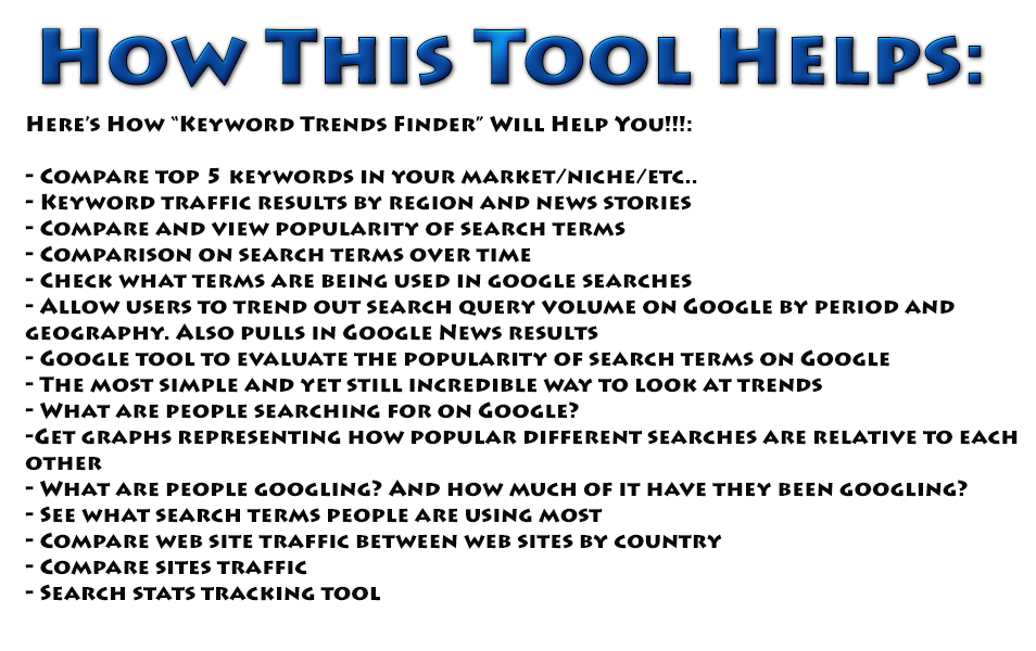Google Trends Keyword Tool - Desktop Application