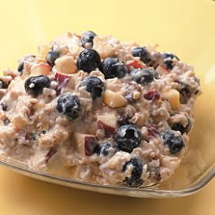 Muesli mixed with yogurt and fruit packs in the nutrition and satisfies all morning long Tutti-Frutti Muesli Recipe