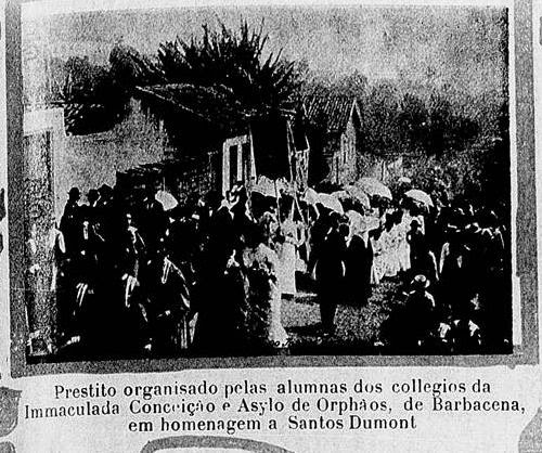 VISITA ALBERTO SANTOS DUMONT EM BARBACENA 1903