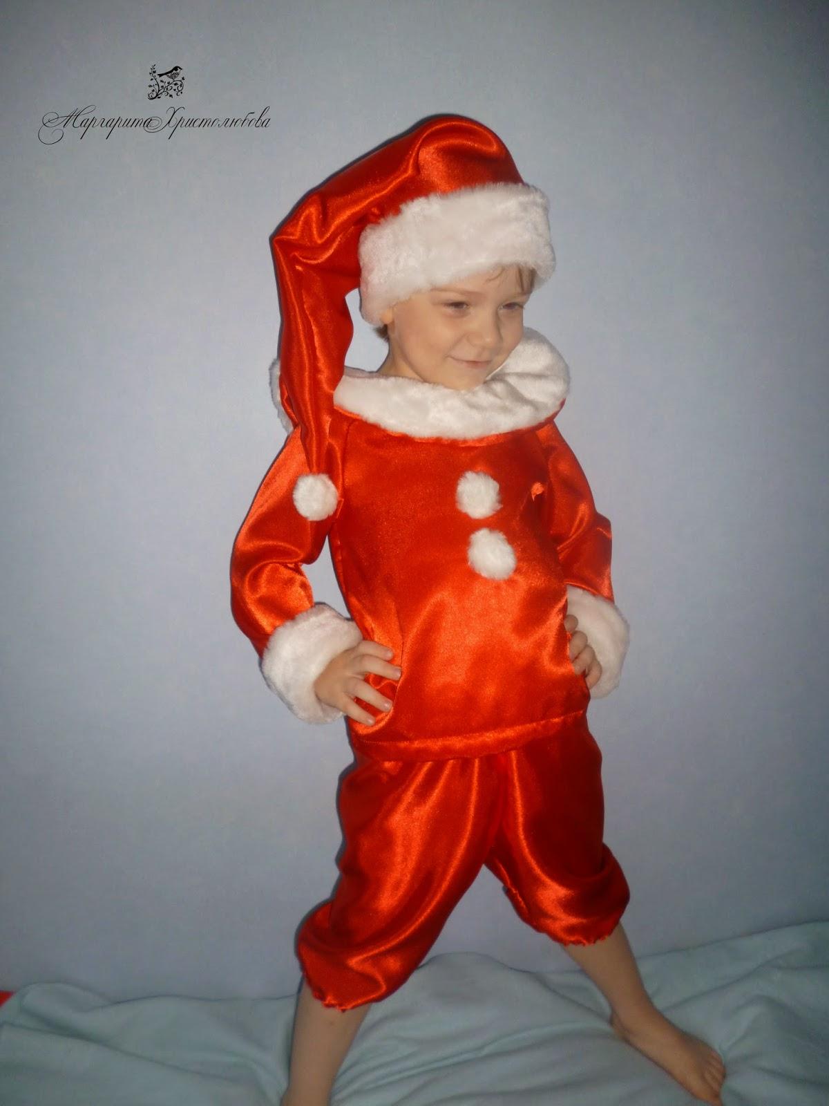 Шьём костюм гнома для мальчика своими руками 12