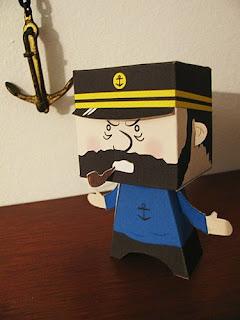 Tintin, Captain Haddock Papercraft Model