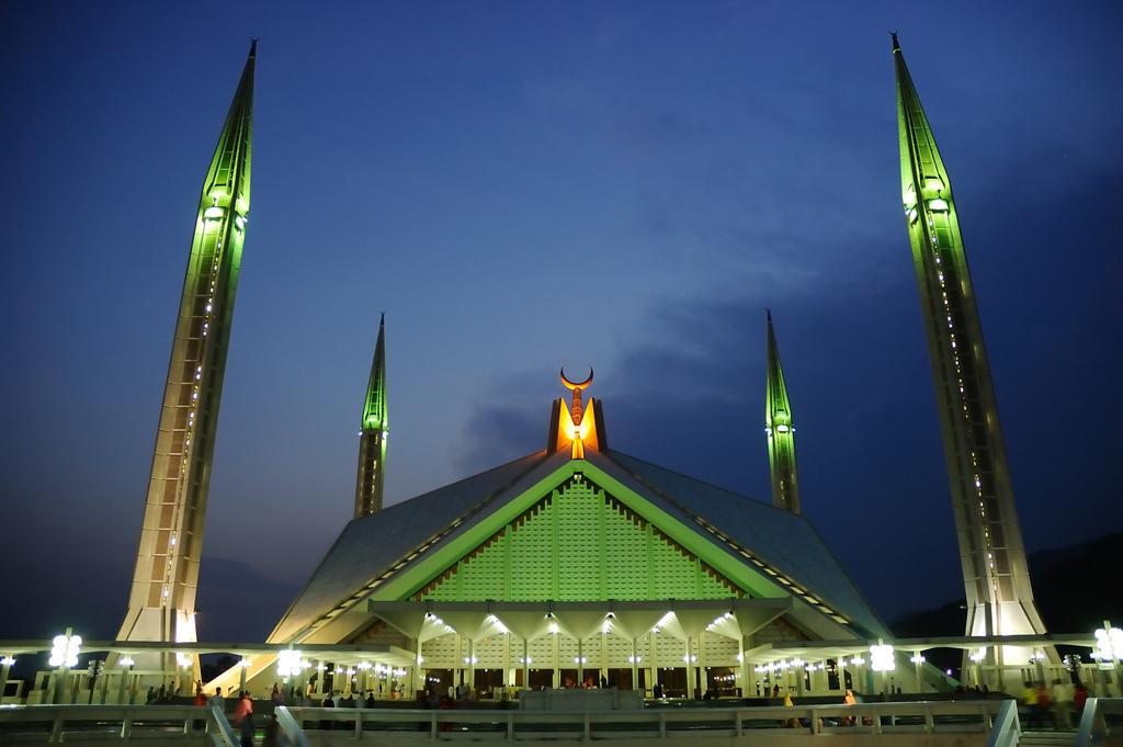 Faisal Mosque, Islamabad, Pakistan.