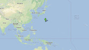 . about 1000km north of Guam island, 1300km from Japan, 2000km from China. (crash site )