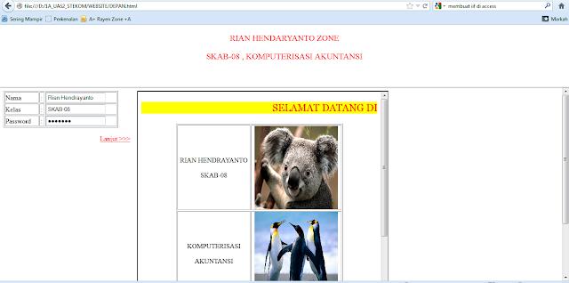 Hasil Mengulang di Rumah Soal MID UAS 2 HTML Iframe di Adobe Dreamwever | www.noterian.blogspot.com