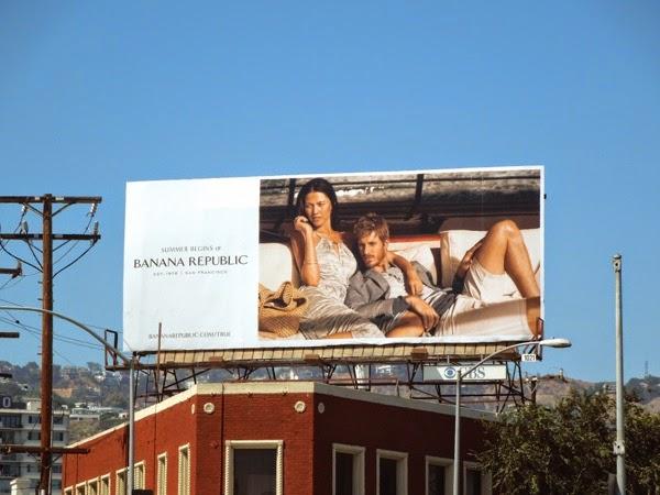 Banana Republic Summer Begins 2014 billboard
