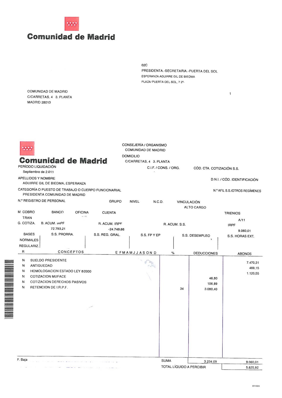 Nómina de Esperanza Aguirre S35C-411092819090