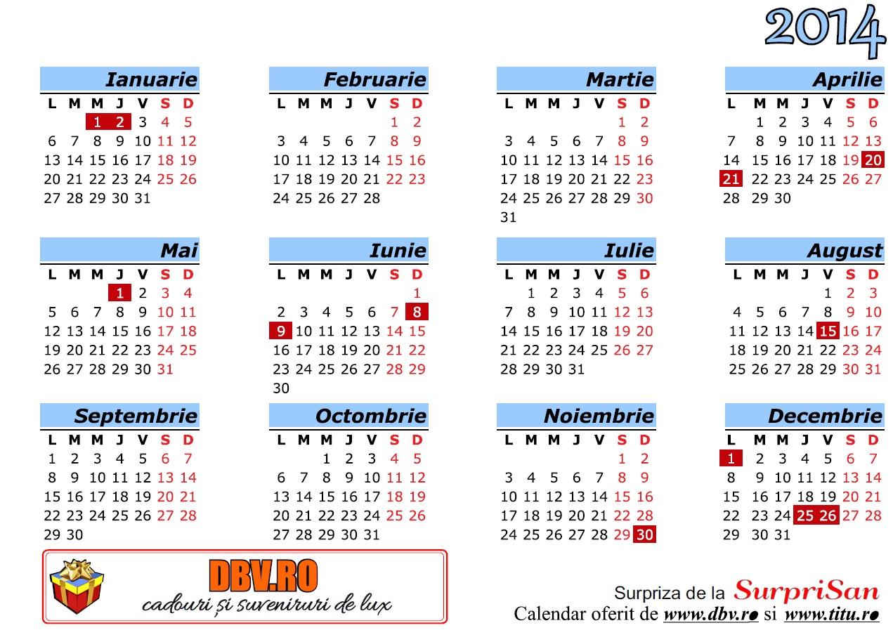 Calendar Românesc 2014 - 1