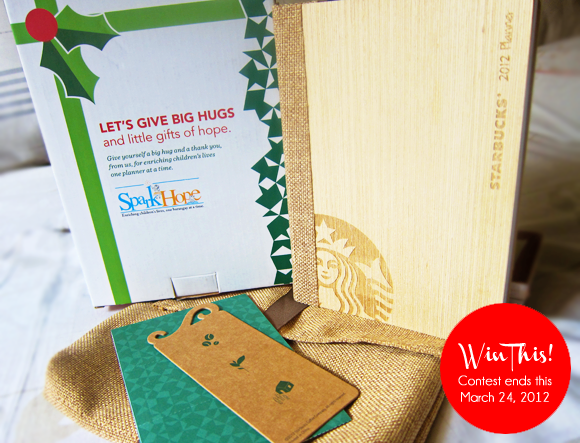 2012 Starbucks Planner Giveaway