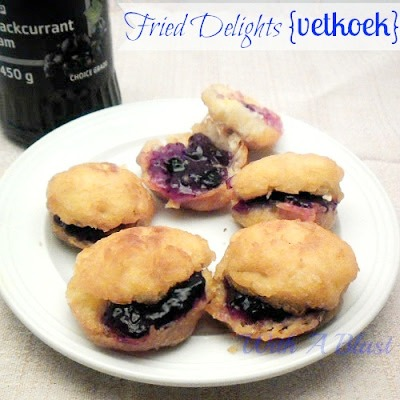 Fried Delights { Vetkoek } ~ Traditional South-African dish {fried dough} - can be filled with a savory or sweet filling #Vetkoek