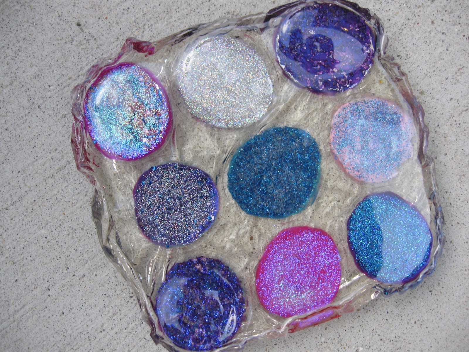 craft klatch nail polish glass stone coaster