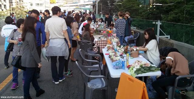 Actividades en paso elevado de Seúl