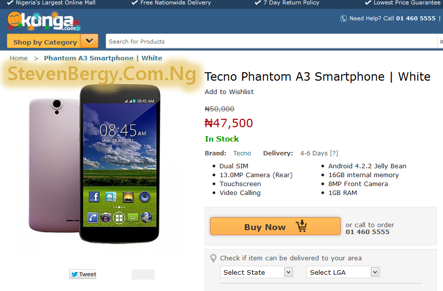 Phantom A3 Price in Nigeria
