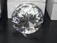 Clear Diamond Shaped Paperweight