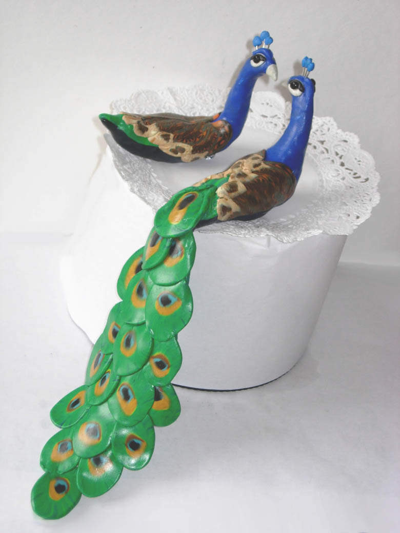 peacock cake decorations