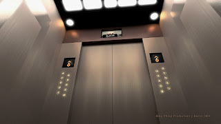 Elevator rendered with iray
