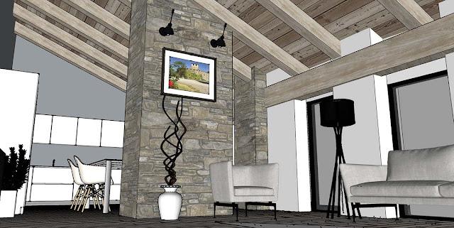 Sketchup Texture Free Sketchup Model Modern Living Room