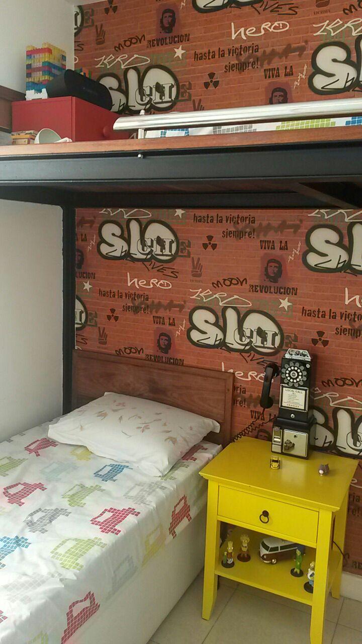 Detalhe quarto de adolescentes