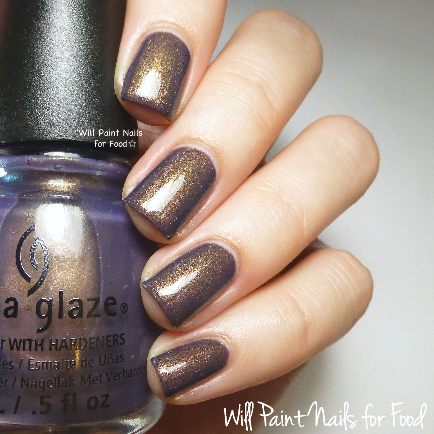 China Glaze Choo-Choo Choose You swatch (direct light)