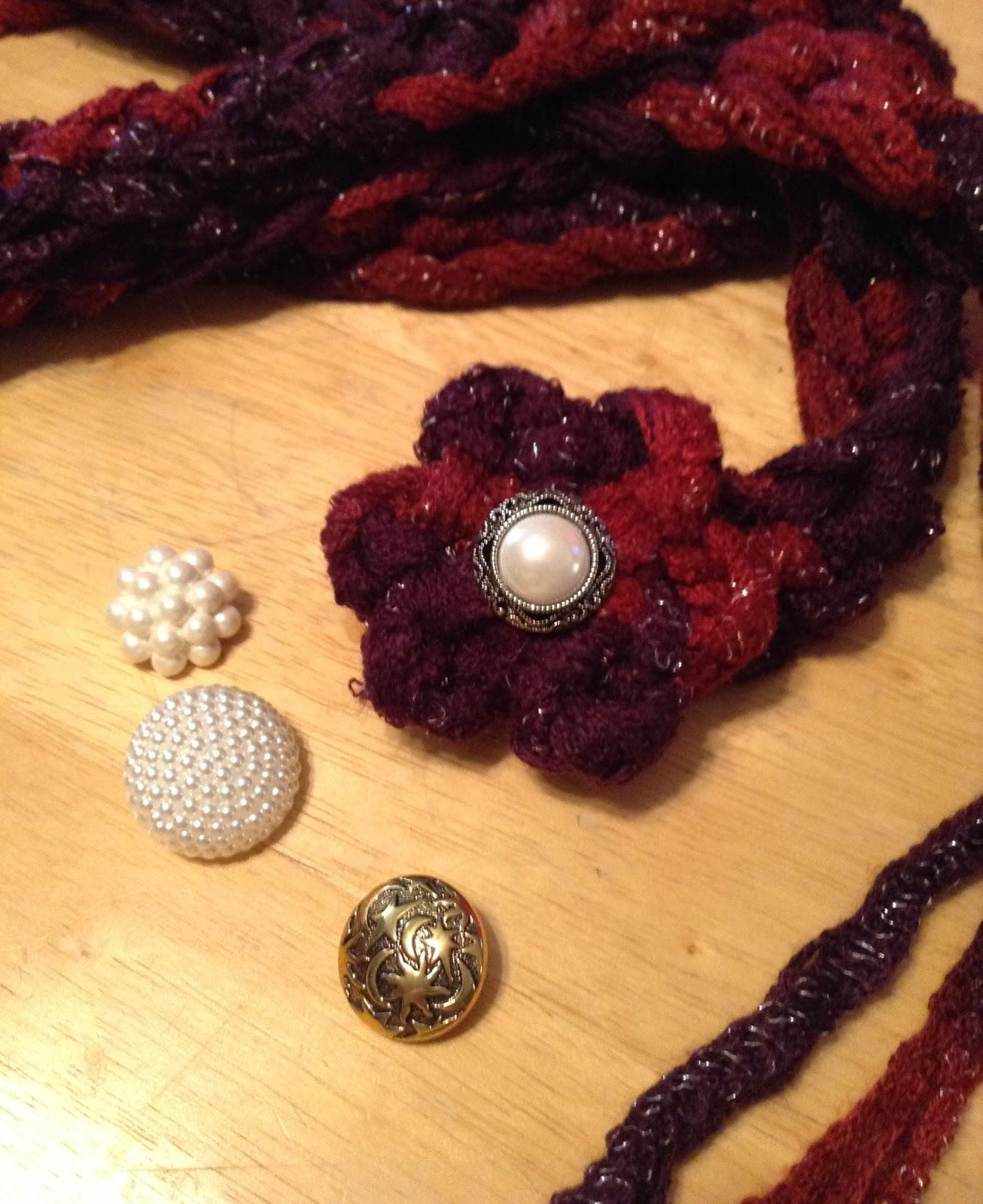 The Shtick I Do!: Sashay Crochet Chain Scarf