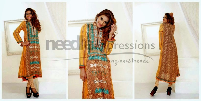 Prominent floral printed patterns Pakistani Dresses