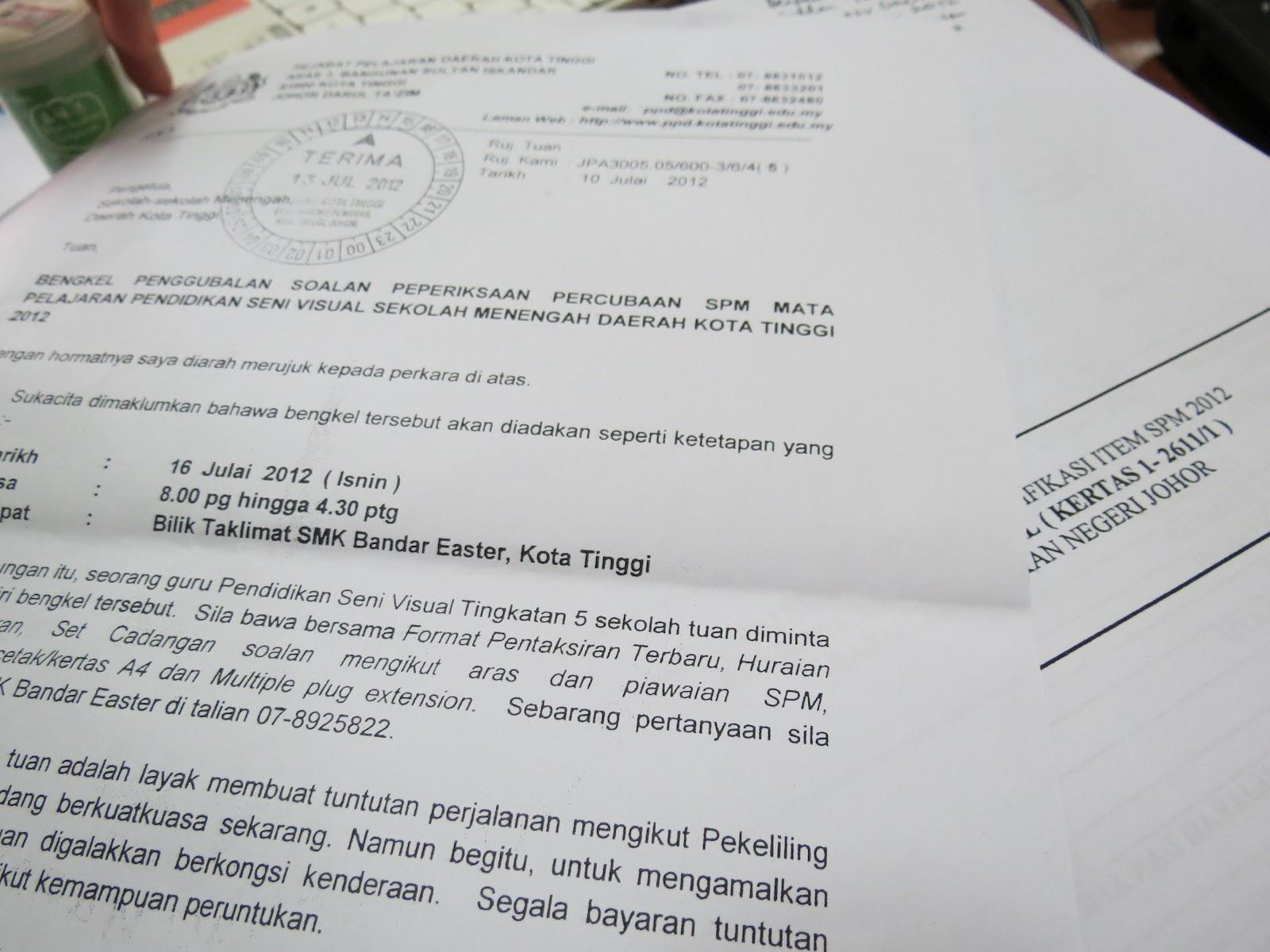 Bengkel Penggubalan Soalan Percubaan SPM PSV Daerah 16Jul2012