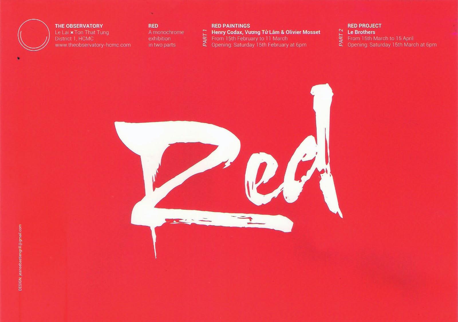 Arty show marguerite expo rouge for Que veut dire la couleur rouge