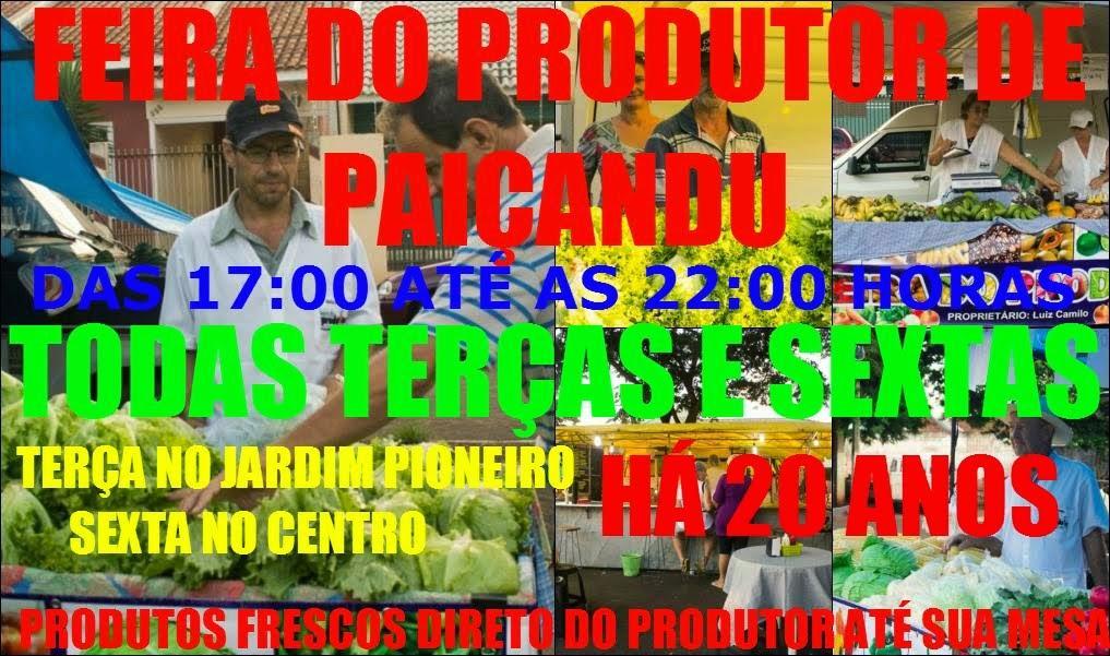 FEIRA DO PRODUTOR DE PAIÇANDU
