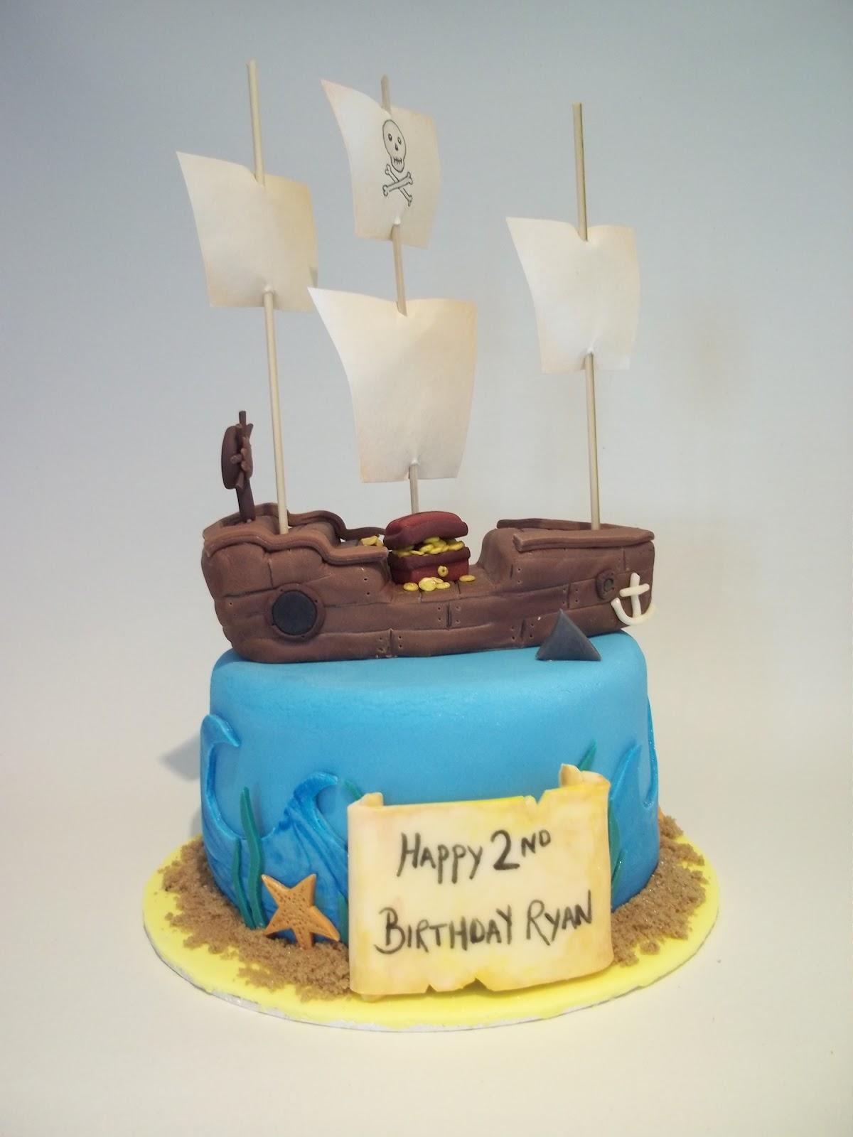 Bits N Bobs Pirate Ship Birthday Cake