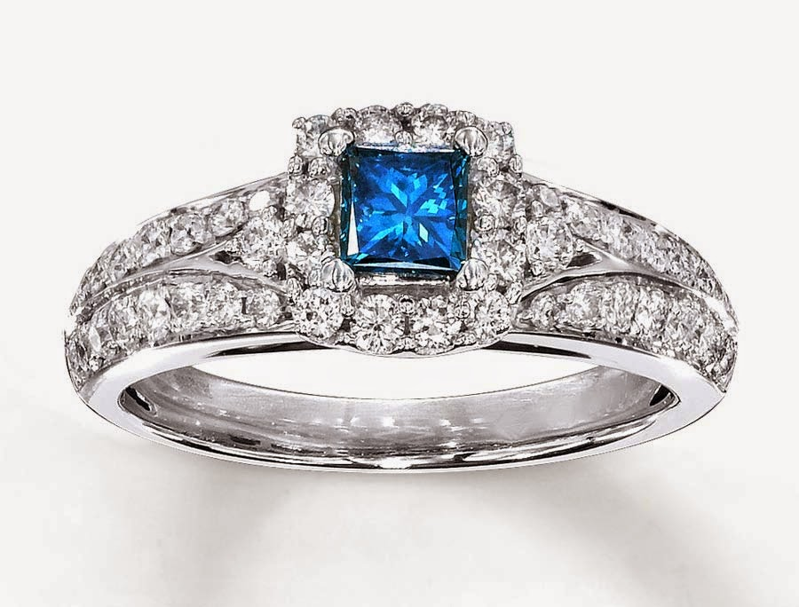 Blue Topaz Diamond Wedding Rings for Women Model pictures hd