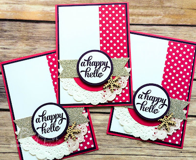 Happy Hello Cards using Stampin' Up! UK Supplies - get them here