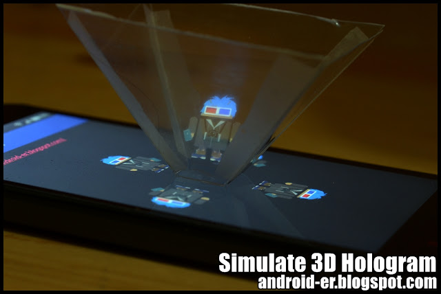 Simulate 3D Hologram Effect