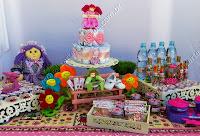 mesa de chá de fraldas decorada