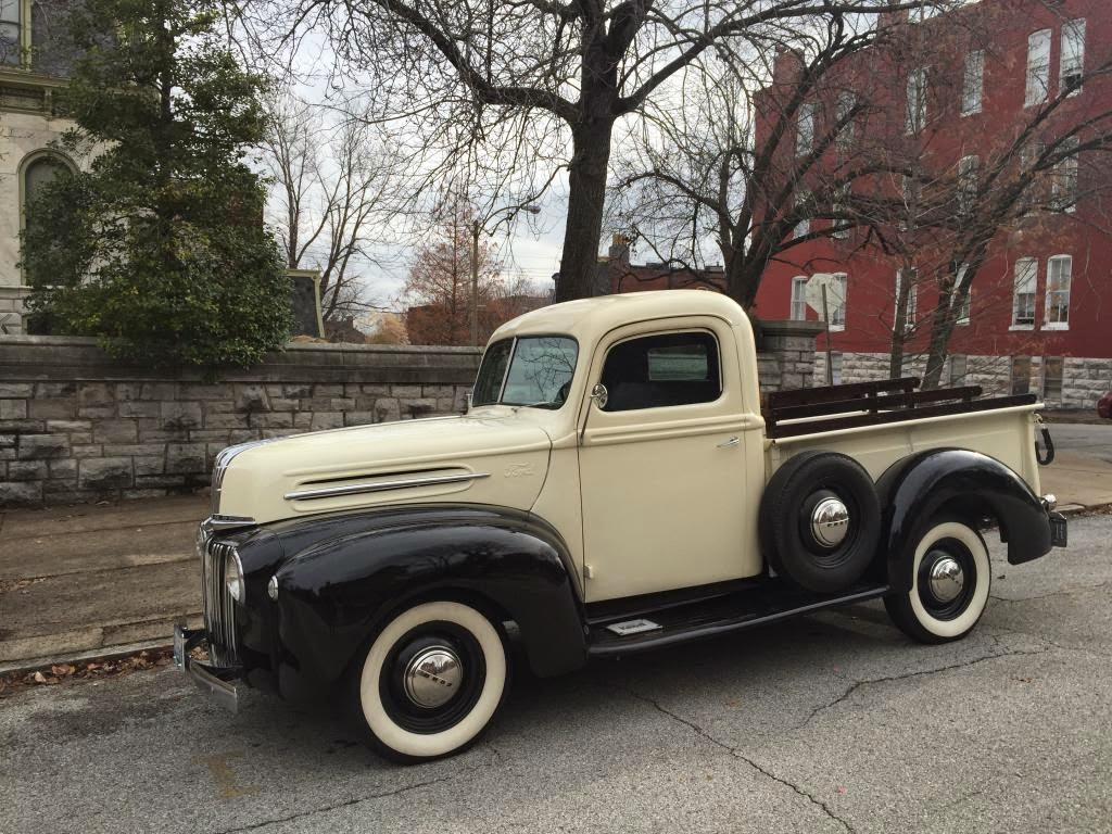 All american classic cars 1947 ford 1 2 ton pickup truck