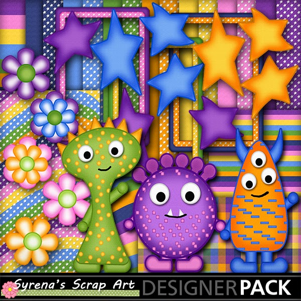 Monsters, Digital Scrapbook Kit