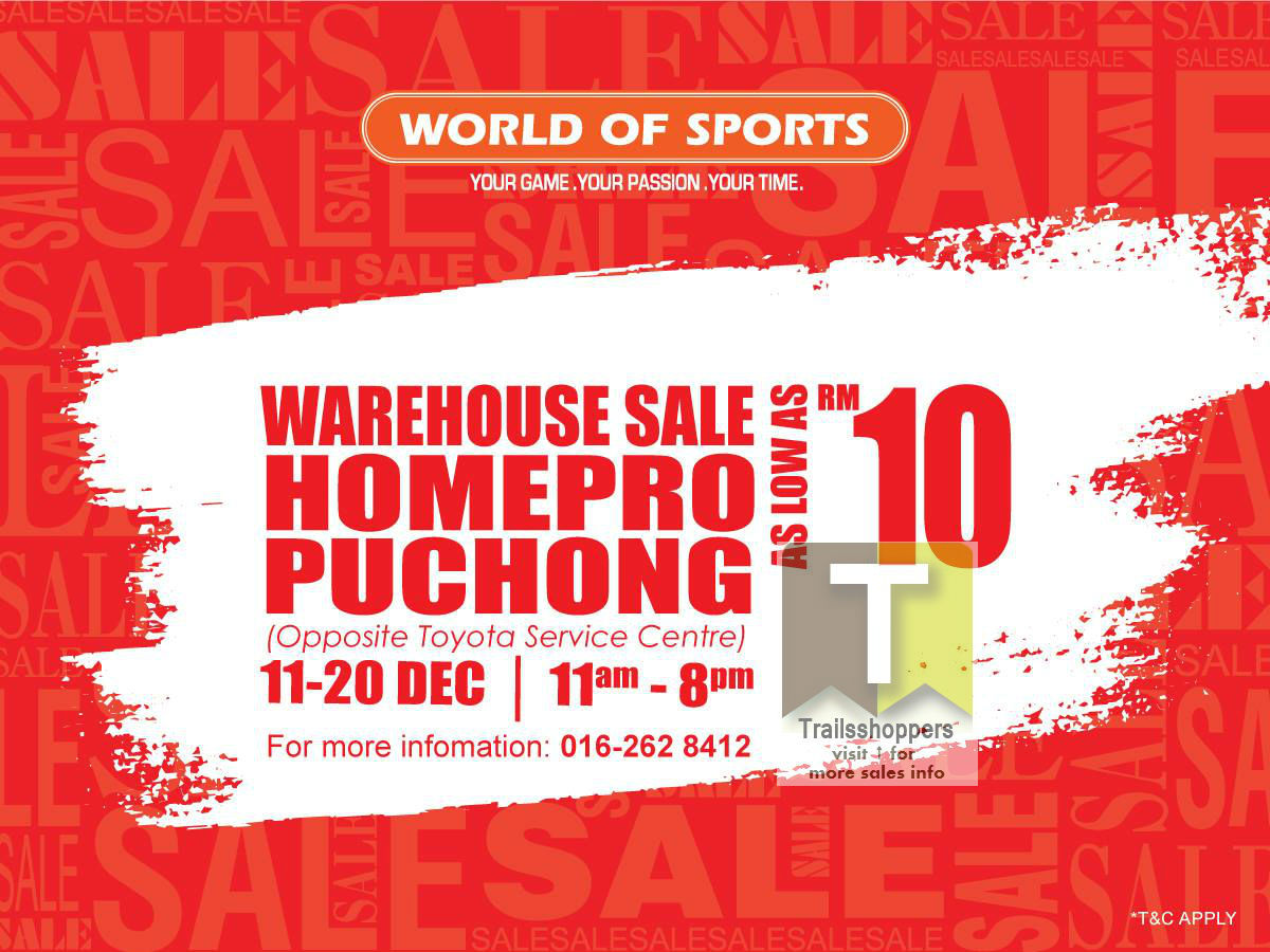 World of Sports Warehouse Sale 2015
