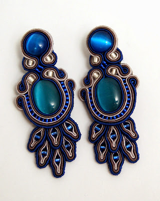 kolczyki sutasz soutache earrings 64