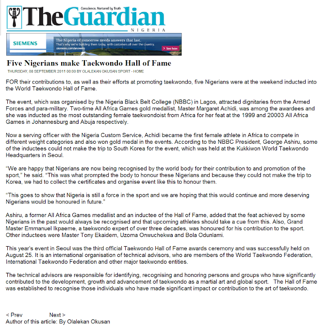 THE GUARDIAN NEWSPAPER REPORT