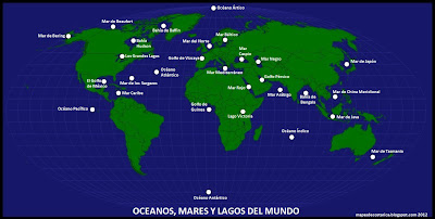 OCEANOS, MARES Y LAGOS DEL MUNDO