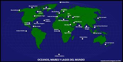 OCEANOS, MARES Y LAGOS DEL MUNDO