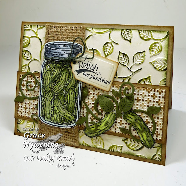 ODBD stampes: Blue Ribbon Winner, Garden Mini, Pickles and Strawberries, designed by Grace Nywening
