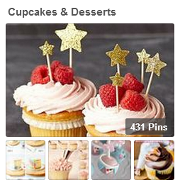 Cupcakes and Dessert Pinterest Board