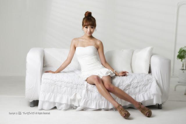 4 Minah - Short White Dress-very cute asian girl-girlcute4u.blogspot.com