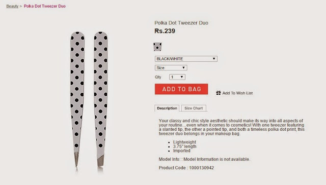 Forever 21, Forever 21 in India, Tweezers