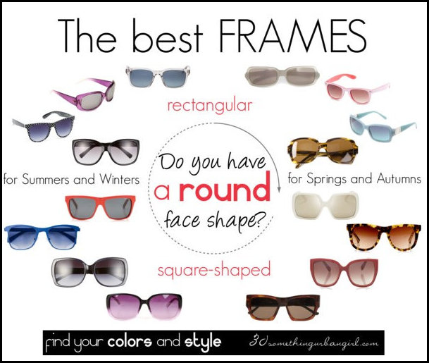 Best Eye Glasses Frames For Round Face : 30 something urban girl: Do you have a round face shape?