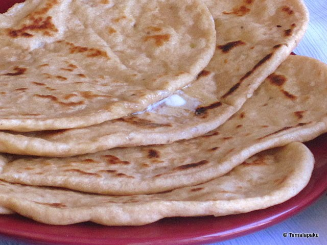Whole Wheat Garlic Naan