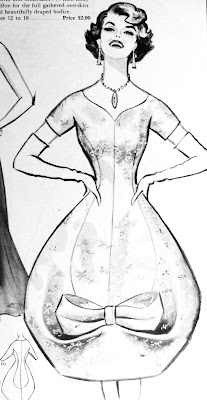 1958 fashion illustration